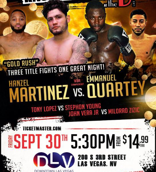 Sept 30 Knockout Night At The D