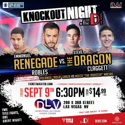 Sept 9 Knockout At The D