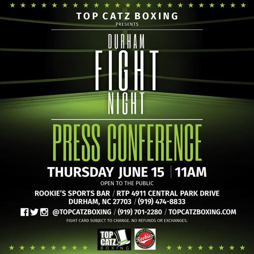 Rookie's Sports Bar Hosts Durham Fight Night Press